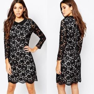Ted Baker Dresses - Ted Baker Ameera Scallop Hem Lace Dress